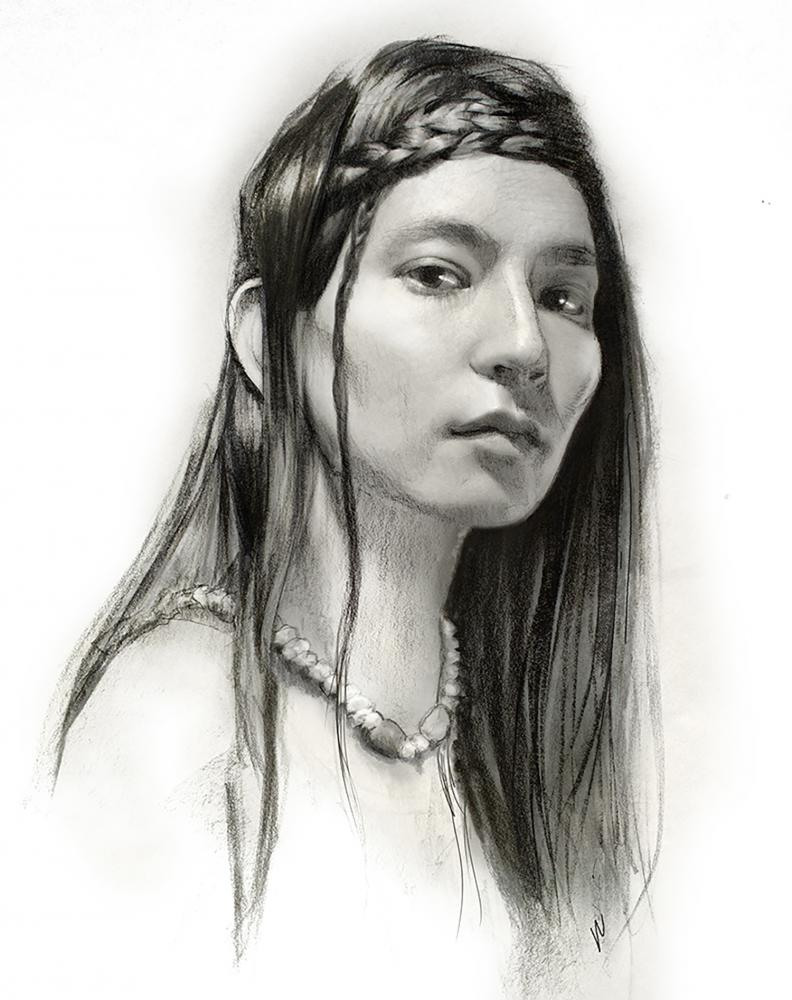 Robert Hunt Indian, indiana, Woman Artist, drawing, illustration
