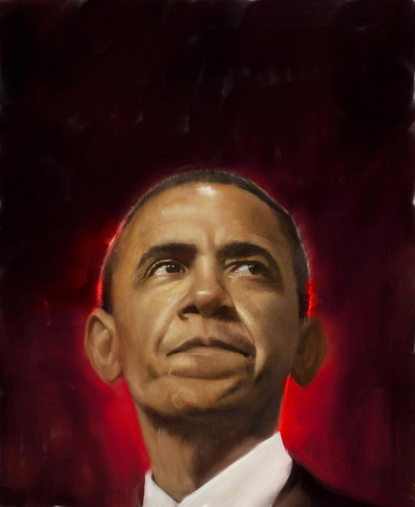 Robert Hunt, Obama, portrait, new republic