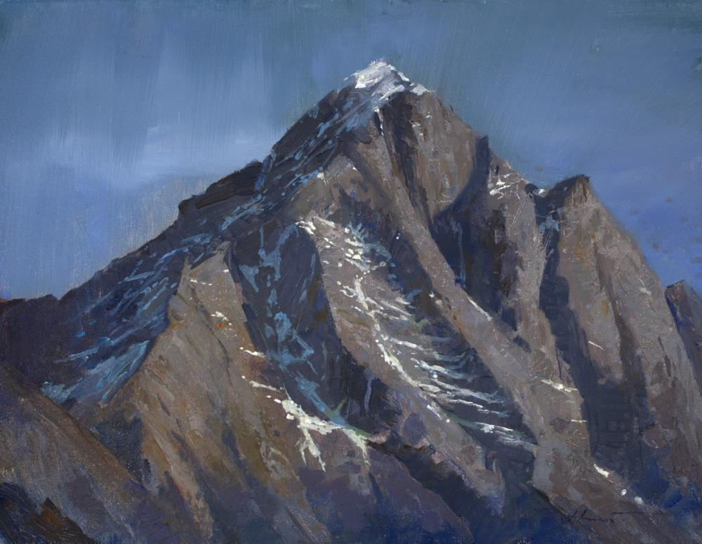 robert hunt, painting Kongde Ri, everest