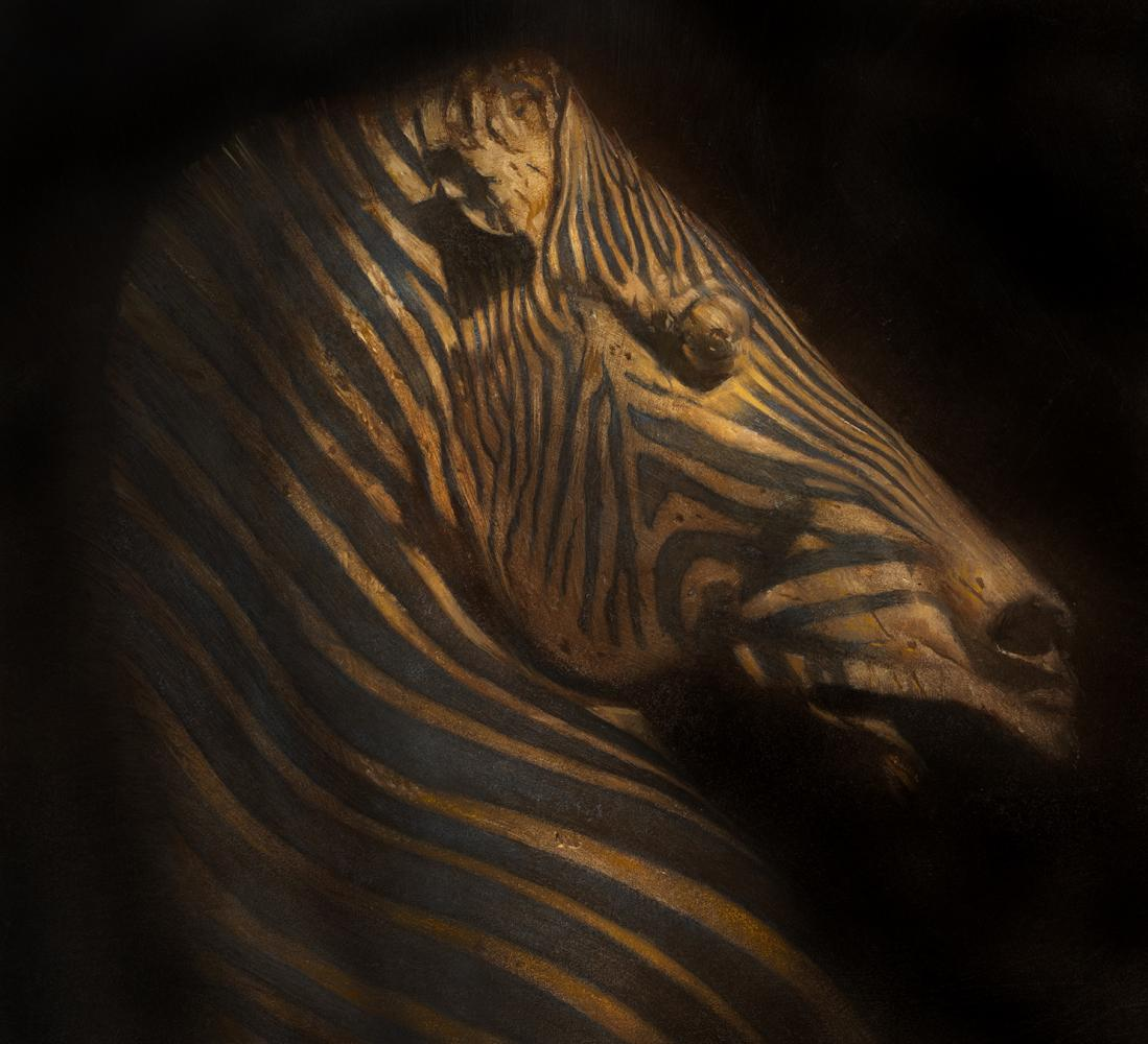 Robert Hunt, personal, zebra or Horse, painting