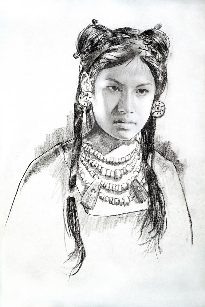 From a series of drawings for exhibit space, the First Nations,  Indiana State Museum.