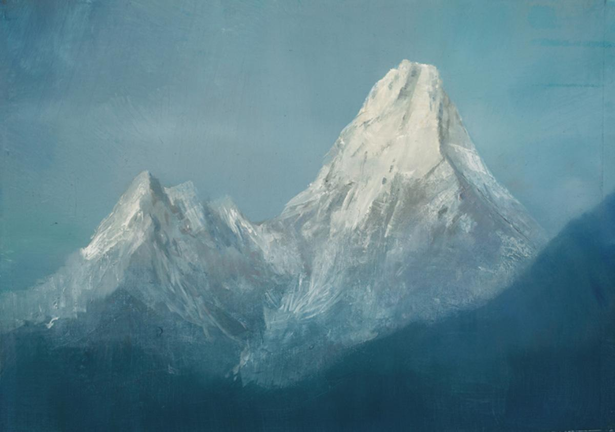 robert hunt, Ama Dablam, plein air Two Mothers