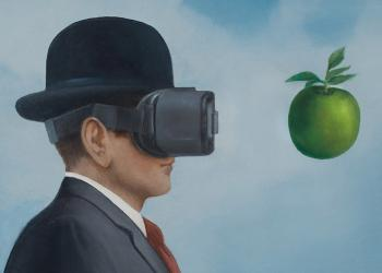 Robert Hunt, illustration, virtual reality, Saatchi and Saatchi, magritte