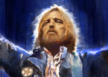 Tom Petty, portrait, illustration, robert hunt, artist